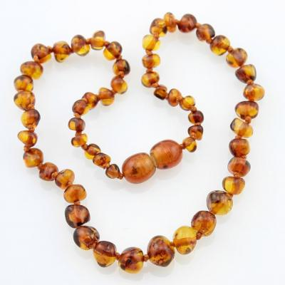 Amber Necklace - Cognac
