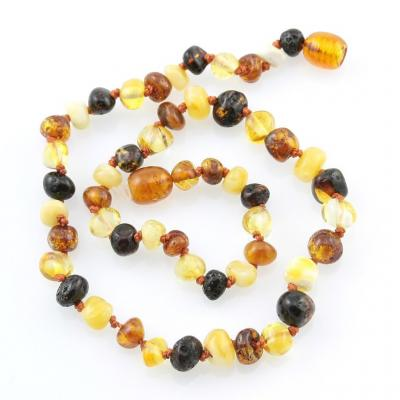Amber Necklace - Multi Chip