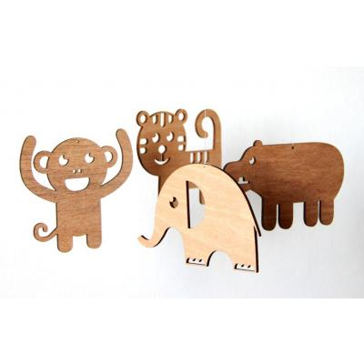 Baby Nursery Zoo by Scoop Designs in Recycled Wood