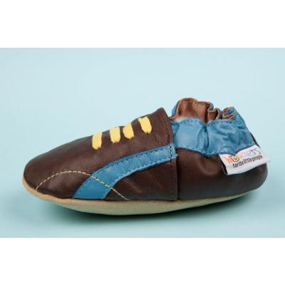 Chocolate and Blues Kick Woddlers Baby Shoes