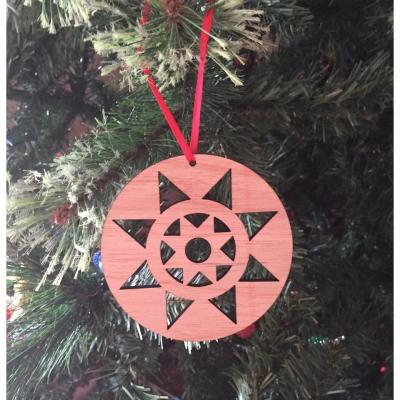 Christmas Star Recycled Wood Christmas Tree Decorations