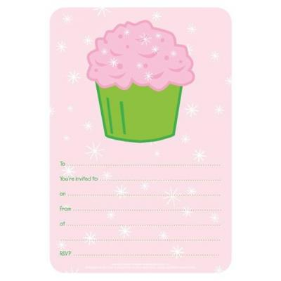 Cupcake Party Invites