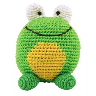 Dandelion Frog Bamboo Roly Poly Rattle/Teether