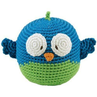 Dandelion Owl Bamboo Roly Poly Rattle Teether