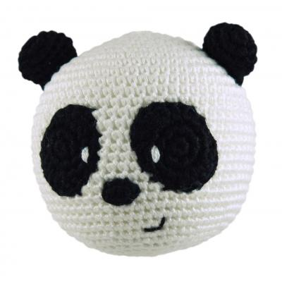 Dandelion Panda Bamboo Roly Poly Rattle Teether