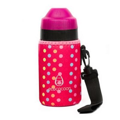 Ecococoon 350ml Pink Spot Bottle Cuddler