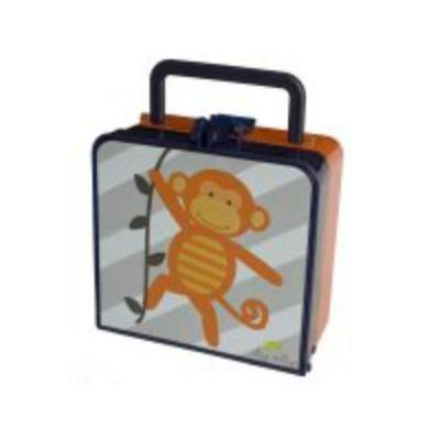 Itzy Ritzy Bento Lunchbox and Reusable Bag Set in Monkey Mania