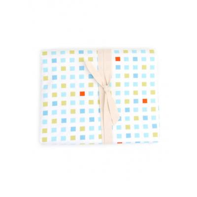 Kukunest Blue Mosaic Fitted Cot Sheet