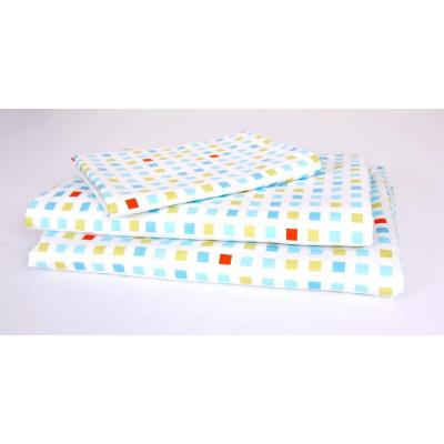 Kukunest Blue Mosaic Single Sheet Set
