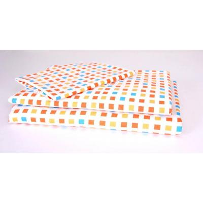 Kukunest Orange Mosaic Single Sheet Set