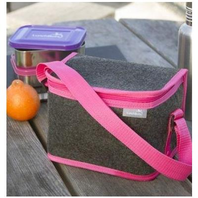 LunchBots Pink Insulated Lunch Bag