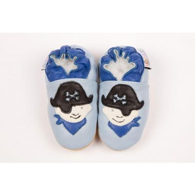 Navy Pirate Woodlers Baby Shoes