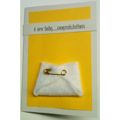 New Baby Congratulations Handmade Gift Card