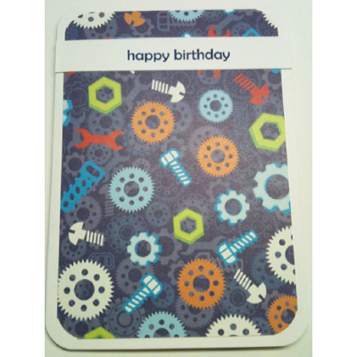 Nuts, Bolts & Clogs Birthday Card