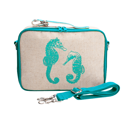 So Young Aqua Seahorse Insulated Lunch Box