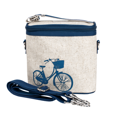 So Young Blue Bicycle Large Insulated Cooler Bag