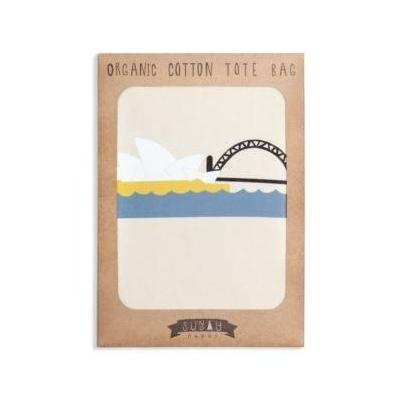Sunday Paper Sydney Harbour Organic Cotton Tote Bag